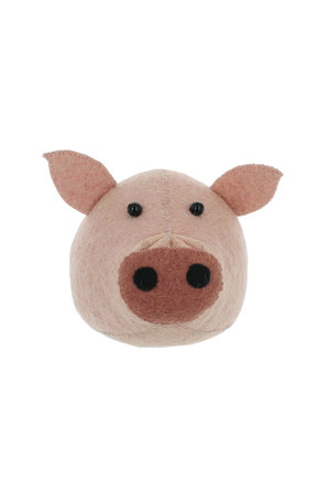 Fiona Walker England Animal head mini - pig