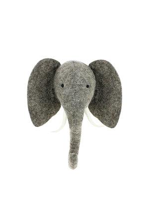 Fiona Walker England Dierenhoofd semi - olifant