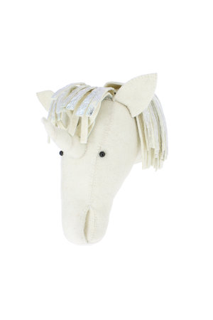Fiona Walker England Animal head semi - silver mane unicorn