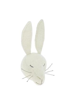 Fiona Walker England Animal head - sleepy white bunny