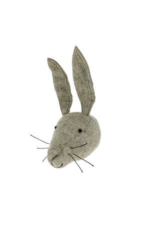 Fiona Walker England Animal head - grey hare