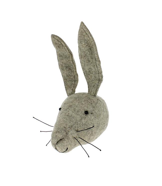 Animal head - grey hare