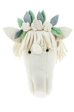 Fiona Walker England Dierenhoofd - eenhoorn met bloemenkrans