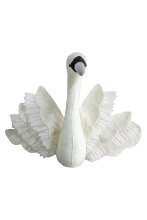 Fiona Walker England Dierenhoofd - zwaan met vleugels