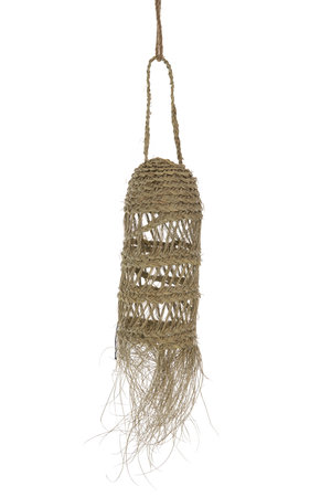 Rock The Kasbah Hanging lamp seagrass 'Meduse' with fringes