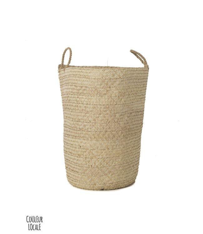 Palm basket L,  'koffa tradi'
