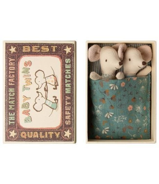 Maileg Baby mice, twins in box
