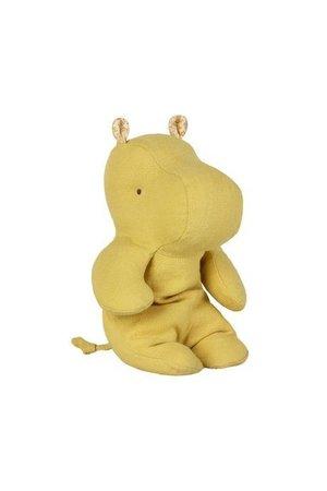 Maileg Safari friends, small hippo - lime yellow