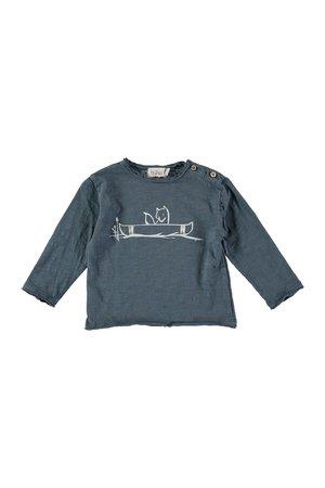 Buho Linus canoe t-shirt- ocean blue