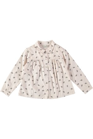 Buho Irina leaves collar blouse - green forest