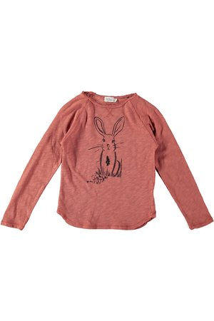 Buho Lou rabbit t-shirt- rose down