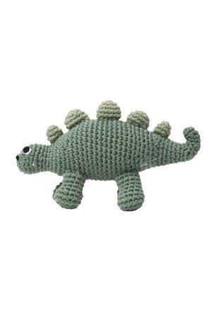 Sebra Crochet rattle, dino