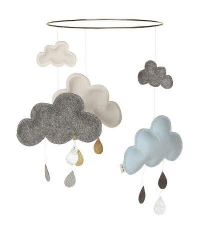 Mobiel wolken grijs-wit-lichtblauw
