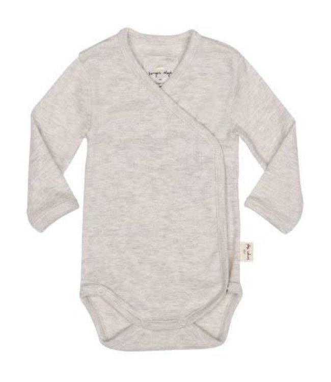 Konges Sløjd New born baby body - light grey