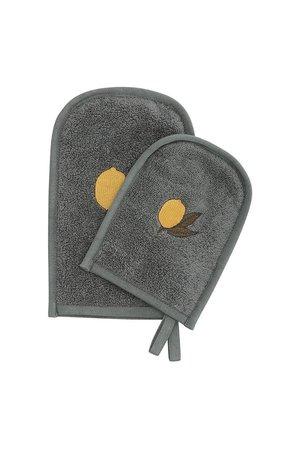 Konges Sløjd Set washandjes - citroen