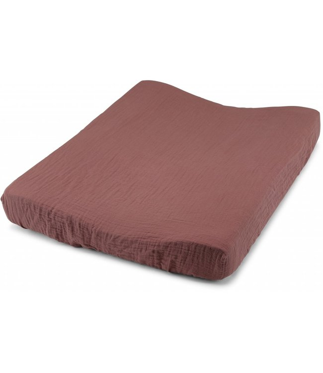 Konges Sløjd Fitted sheet for changing cushion - cedar wood