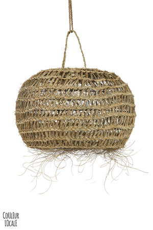 Rock The Kasbah Natural hanging Lamp with Fringes 'Meduse Alpha'