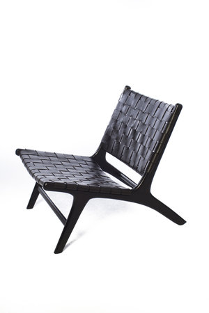Boro lounge chair - dark brown leather & dark brown teak