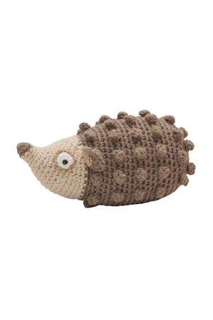 Sebra Gehaakte rammelaar, Rolly the hedgehog, light brown