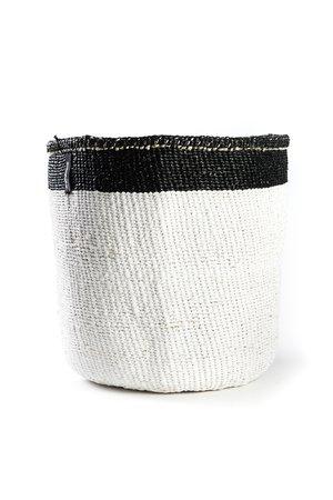 Kiondo mand - white with black top stripe