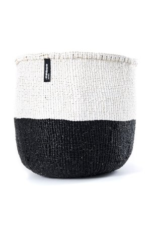 Kiondo basket - 50/50 color black and white