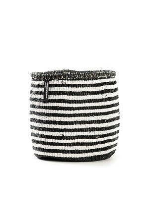 Kiondo basket - stripes black and white