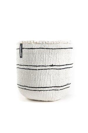 Kiondo basket - black 5 stripes on white