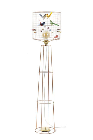 Challières Big birdcage standing lamp