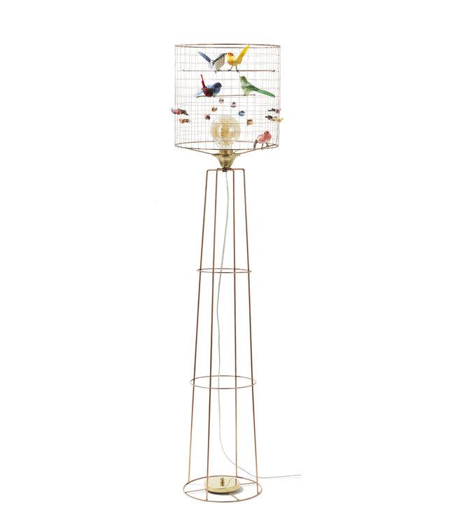 Big birdcage standing lamp