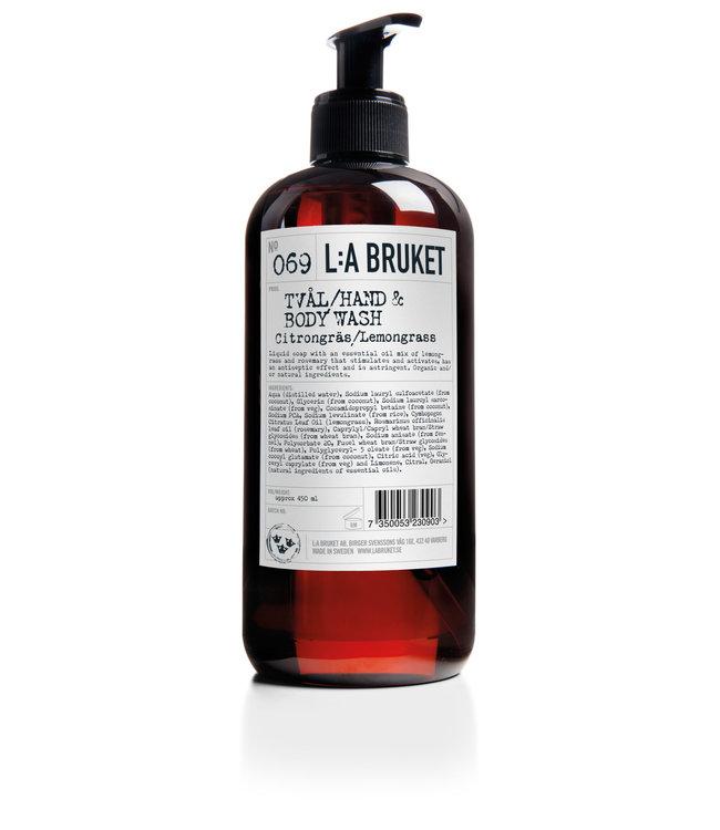 LA Bruket 069 Hand & body wash lemongrass - 450 ml