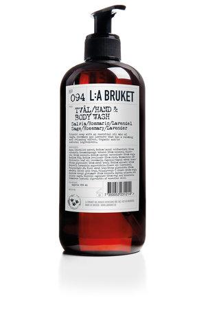 LA Bruket 094 Hand & body wash sage/rosemary/lavender - 450 ml