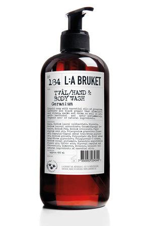 LA Bruket 184 Hand & body wash geranium - 450 ml