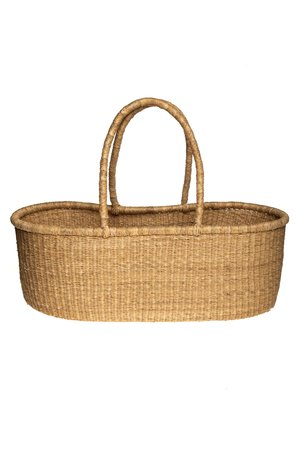 Bolga Mozes basket with natural handles - straight model