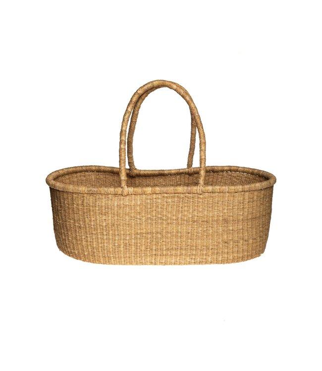 Bolga Mozes basket with natural handles - straight model