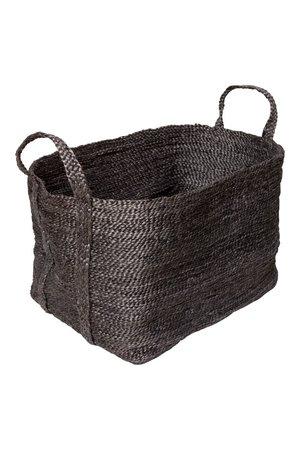 The Dharma Door Large jute basket - charcoal