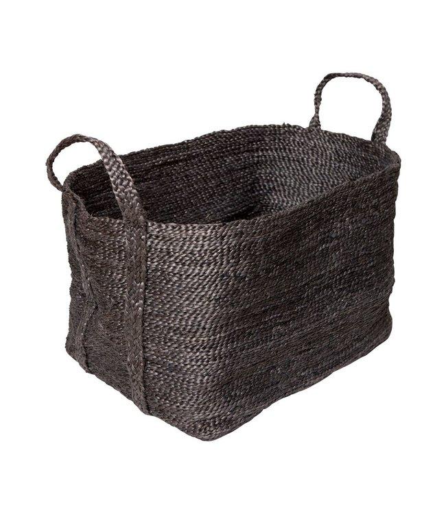 Large jute basket - charcoal