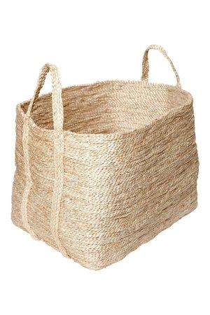 The Dharma Door Large jute basket - natural