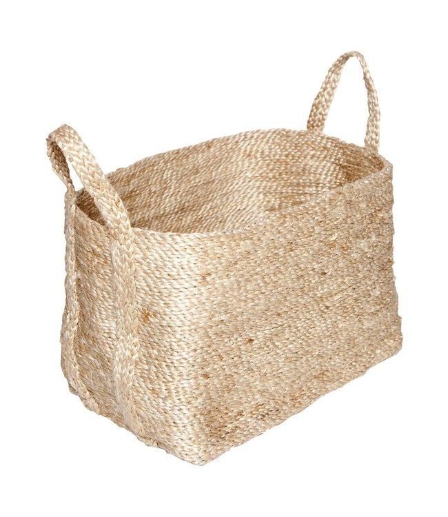Small jute basket - natural