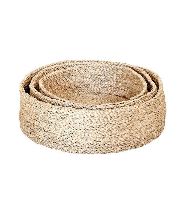 The Dharma Door Trio of round jute baskets - natural