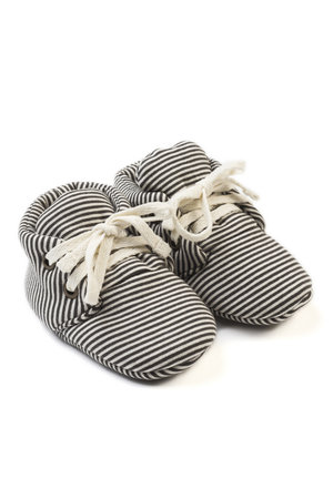 Kidwild Collective Organic baby booties- knit stripe