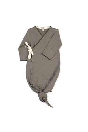 Kidwild Collective Organic baby kimono gown - knit stripe