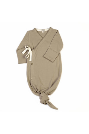 Kidwild Collective Organic baby kimono gown - dune