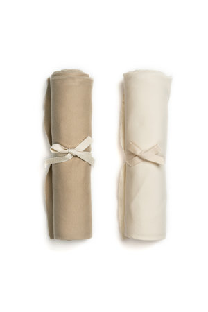 Kidwild Collective Organic swaddle blanket set- dune & vanilla