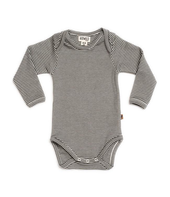 Kidwild Collective Organic bodysuit long sleeve - knit stripe