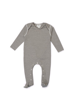 Kidwild Collective Organic footed jumpsuit - knit stripe