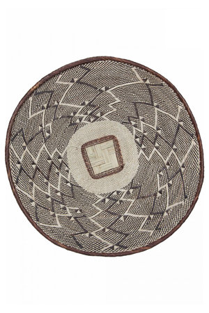Binga basket brown border Ø46-50cm