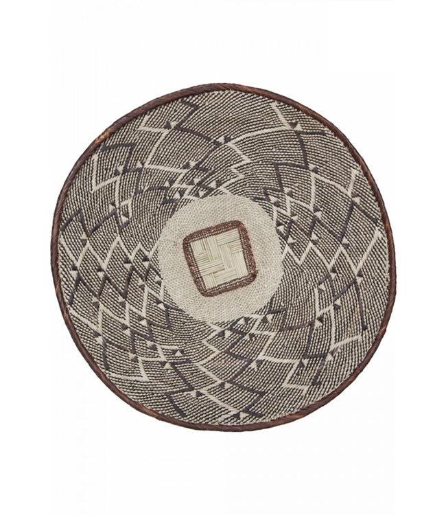 Binga basket brown border Ø46-50cm