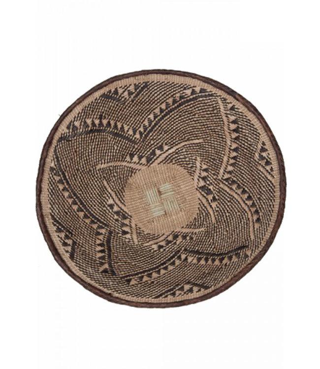 Binga basket brown border Ø41-45cm