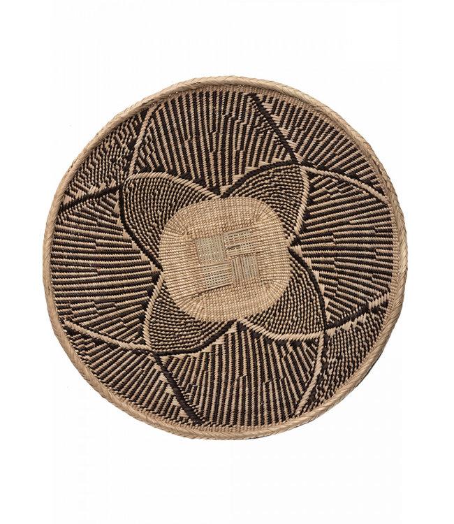 Binga basket brown border Ø56-60cm