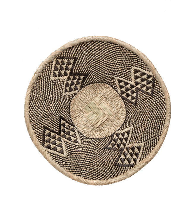 Binga basket white border Ø51-55cm